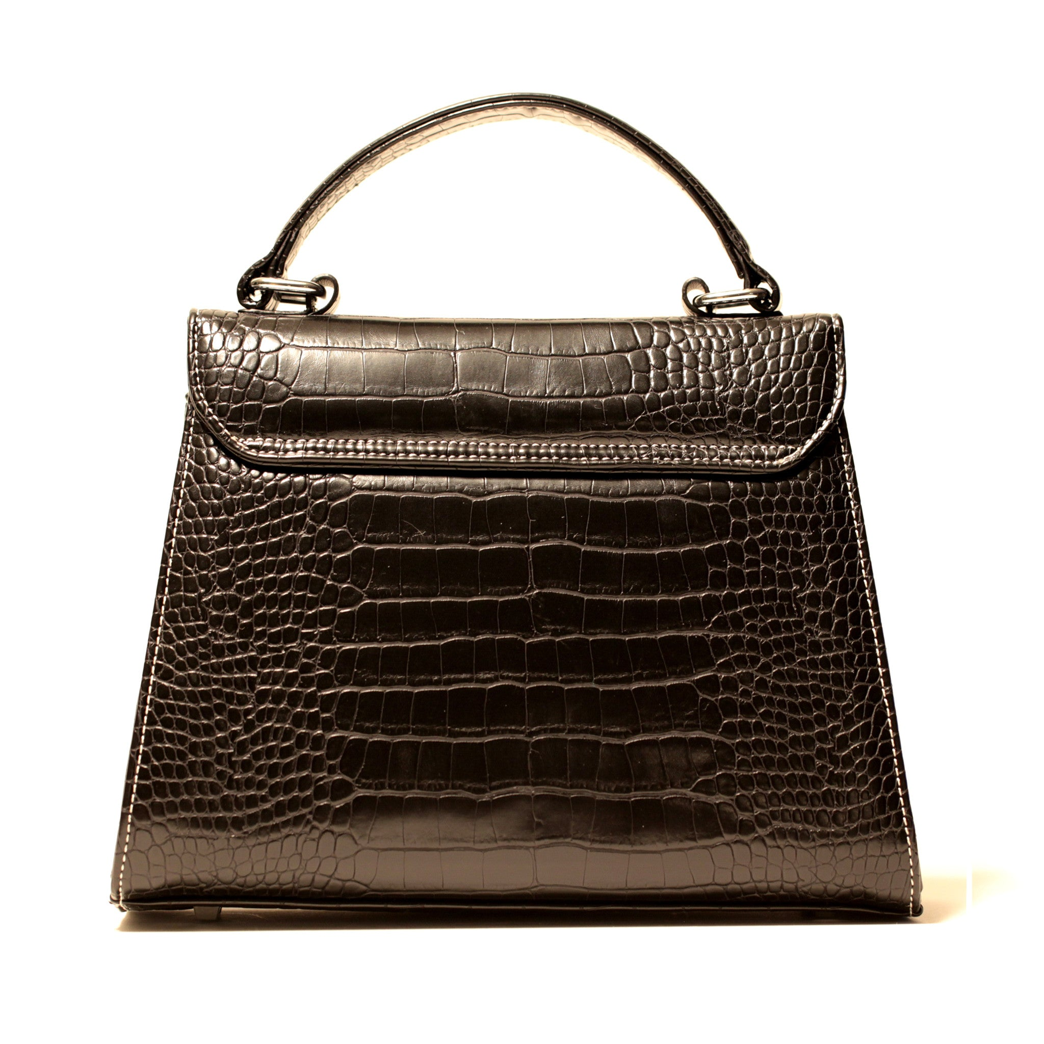 BLACK CROCODILE PRINCESS SATCHEL