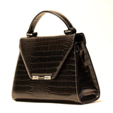 BLACK CROCODILE PRINCESS SATCHEL/PRE-ORDER
