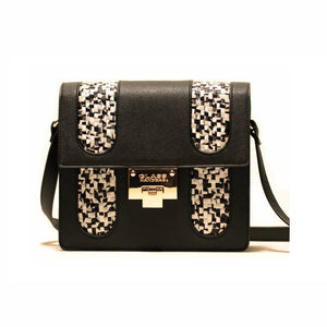 BLACK PIXEL CROSS-BODY BAG