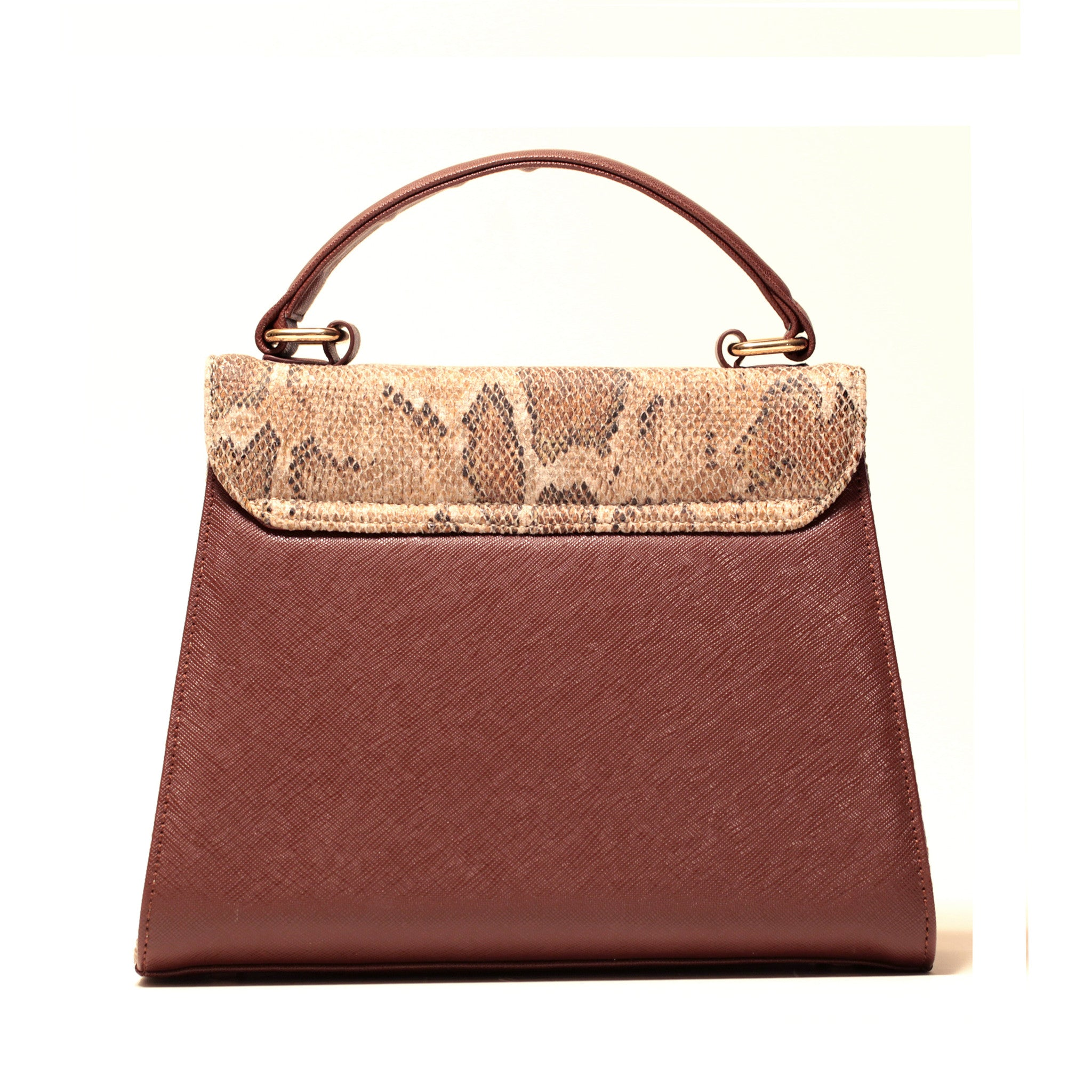 BROWN SNAKE PRINCESS SATCHEL