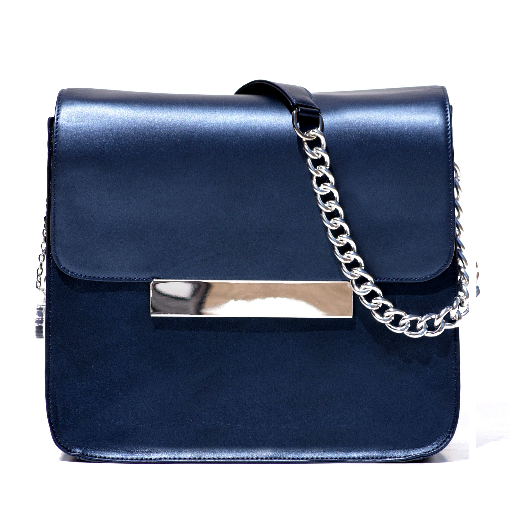 COBALT BLUE NAPA LEATHER CROSS-BODY BAG
