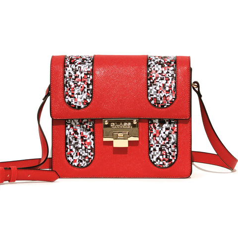 RED PIXEL CROSS-BODY BAG
