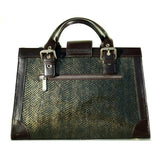 Socialite Brown Leather Satchel rear