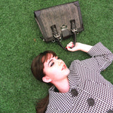 Socialite Brown Leather Satchel fashion model