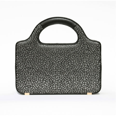 METALLIC SILVER POP ROCK SATCHEL