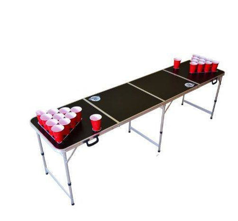 Folding beer pong table, black
