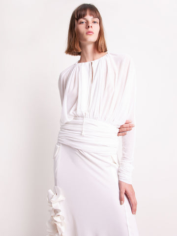 Emory Sheer Ruched Blouse - Christopher Esber