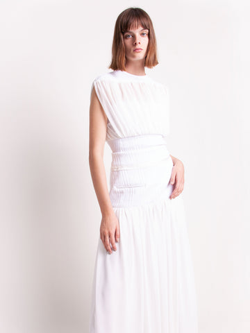 Cummerbund Sheer Ruched Skirt - Christopher Esber