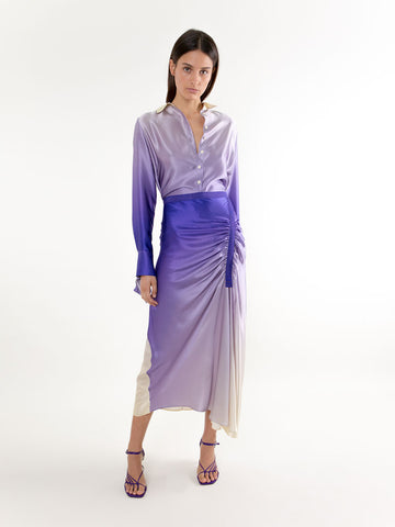 Elongated Incline Gather Skirt - Christopher Esber