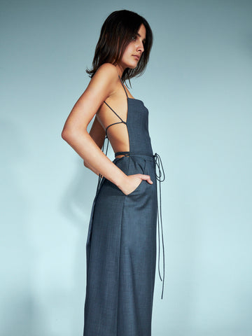 Gienevere Tie Back Apron Dress - Christopher Esber