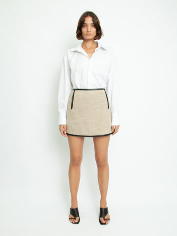 Woven Outlined Mini Skirt