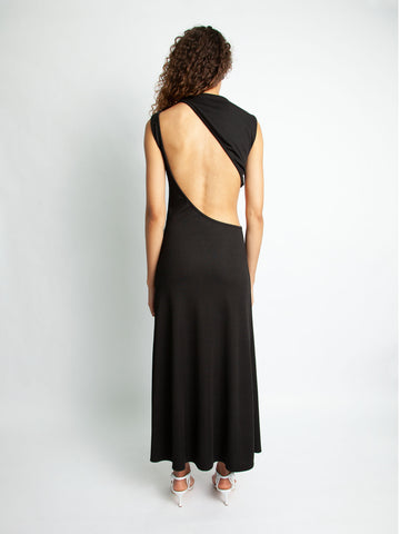 Slashed Back Rib Dress