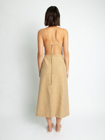Guinevere Apron Tie Back Dress