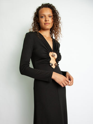 Hiero Long Sleeve Rib Dress