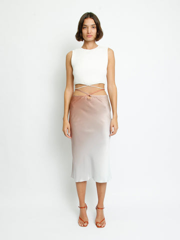 Loophole Bias Tie Skirt - Christopher Esber