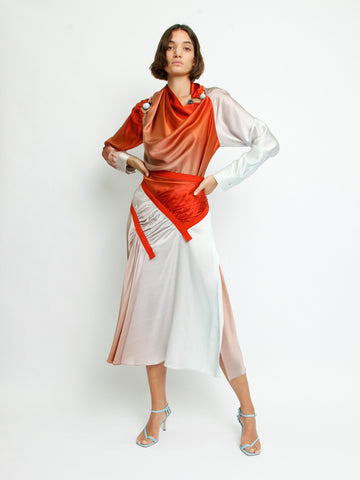Drape Ruched Orbit Blouse - Christopher Esber