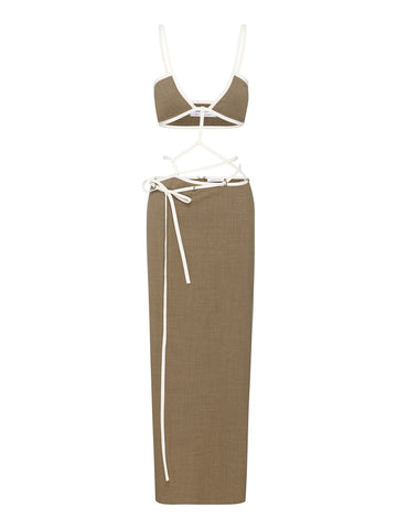 Outline Cross Bandeau Dress