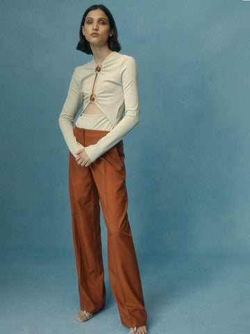Double Belted Trouser - Christopher Esber