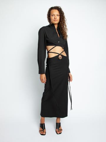 Orbit Quartz LoopHole Tie Skirt