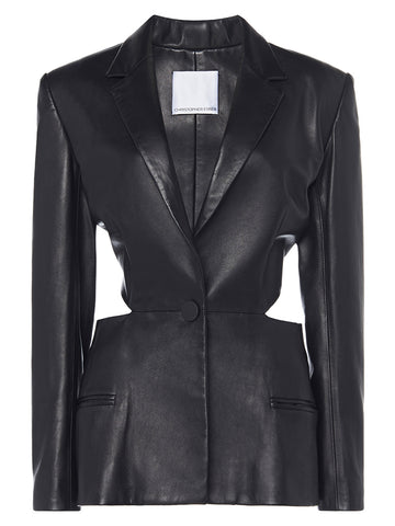 Leather Looped Tie Back Blazer - Christopher Esber