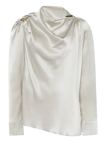 Draped Ruched Orbit Blouse - Christopher Esber