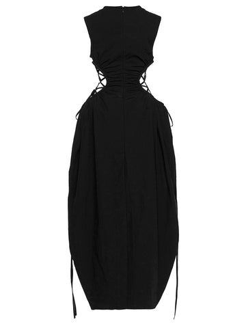 Ruched Tie Cocoon Dress