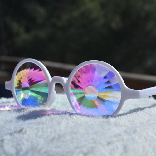 WHITE MAGIC KALEIDOSCOPE GLASSES