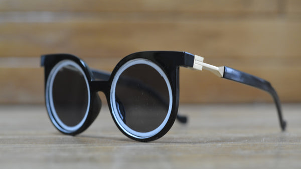 "FUTURE SUNGLASSES - WHITE ON BLACK ""ECLIPSE"" - FUTURE EYES"