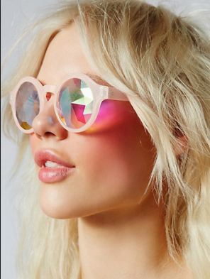 KALEIDOSCOPE GLASSES - CRYSTAL LENS - PINK - FUTURE EYES