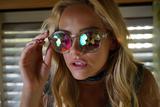 KALEIDOSCOPE GLASSES - CRYSTAL LENS - BLUE - FUTURE EYES