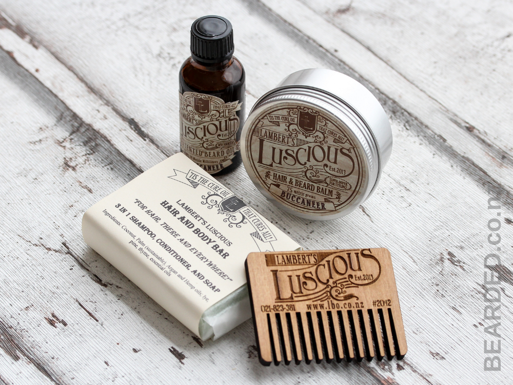 BEARDED. Lamberts Luscious Beard Essentials Kit