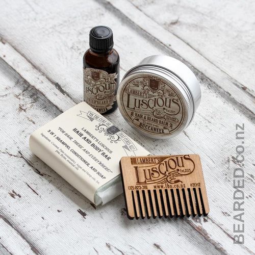 Beard Essentials Kit-Lambert's Luscious-BEARDED.