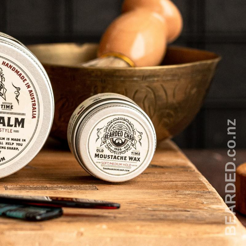 Old Time Moustache Wax-The Bearded Chap-BEARDED.