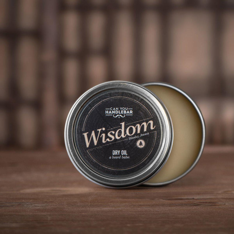 Wisdom Beard Dry Oil (Beard Balm)-Can You Handlebar-BEARDED.