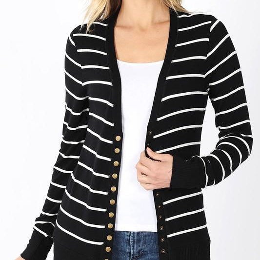 Stripped Cardigan