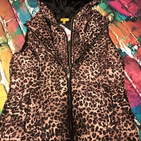 Hooded Leopard Vest