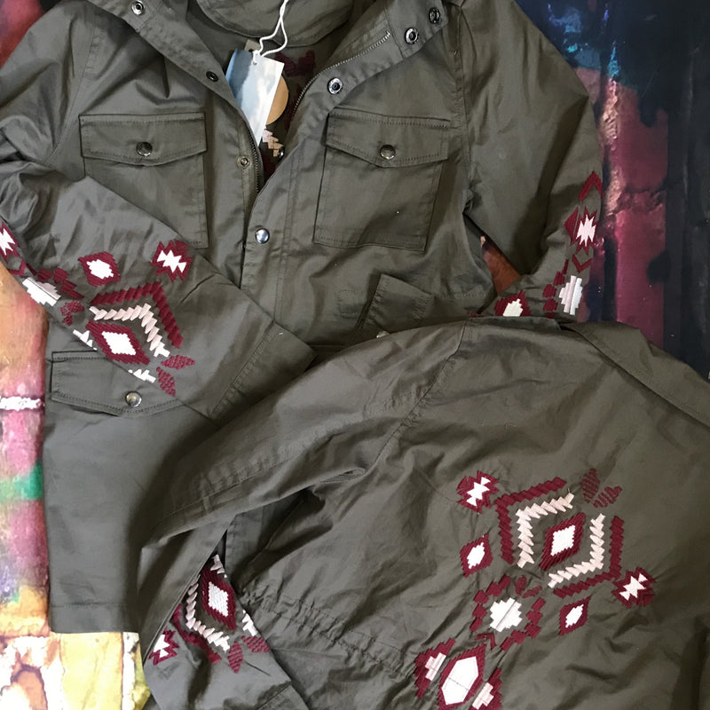 Green Aztec Jacket