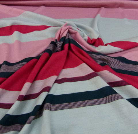 Jersey Merino- Rose/Armani/Barberry/Ink