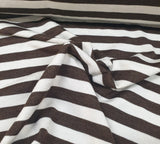 Merino Tencel- Brown/Ecru Stripe