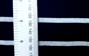 100% Cotton  -Black/Oatmeal Stripe
