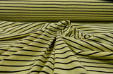 Cotton Elastane - Buttercup/Chocolate stripe