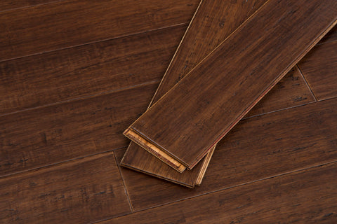 Bordeaux Fossilized® Click Solid Bamboo Flooring