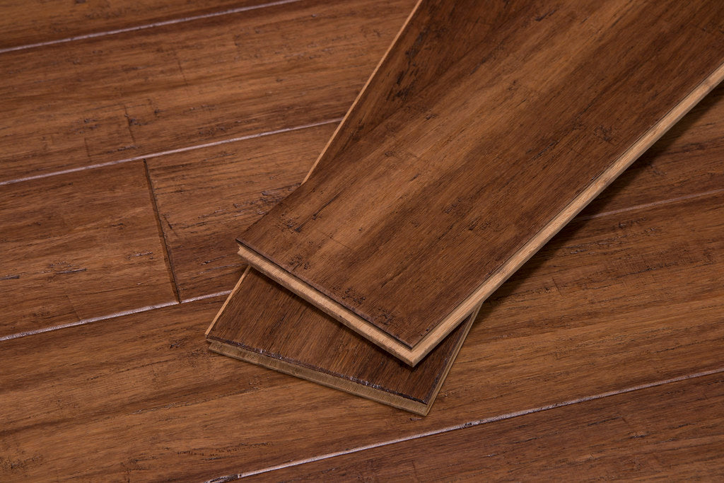 Bourbon Barrel Fossilized® Wide T&G Solid Bamboo Flooring