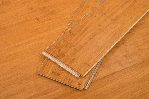 "Mocha Wide Click Bamboo 9/16""® Engineered Bamboo Flooring"