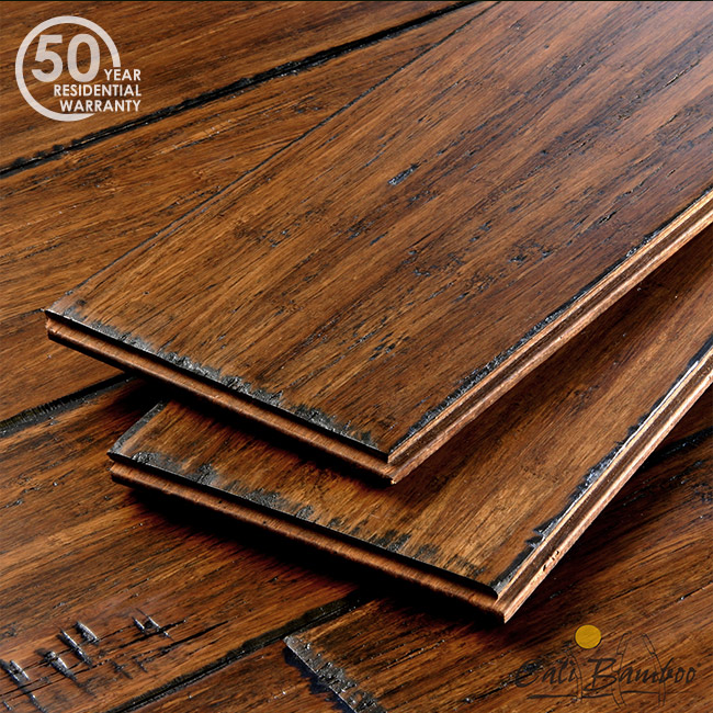 Antique Java Fossilized® Wide Tu0026G Bamboo Flooring