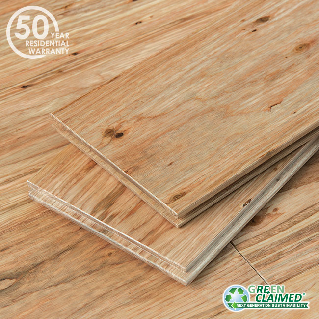 Natural Fossilized® Eucalyptus Wide T&G Flooring
