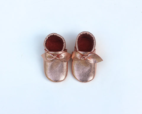 Rose Gold Bow Moccasin