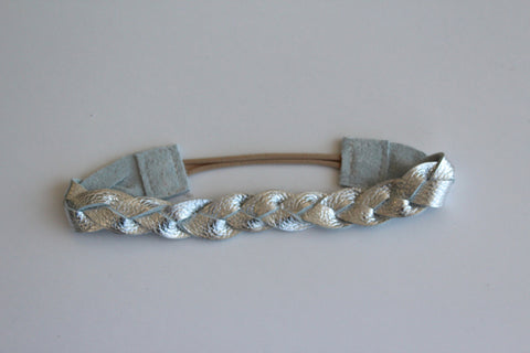 Goddess Braided Headband in Silver