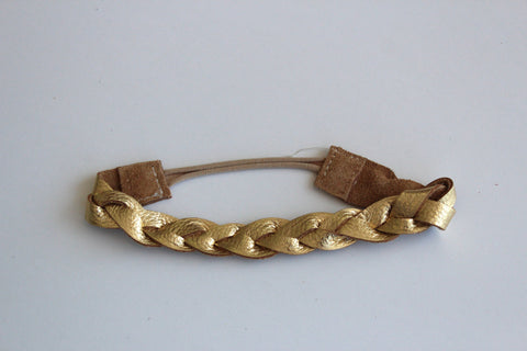Goddess Braided Headband in Gold