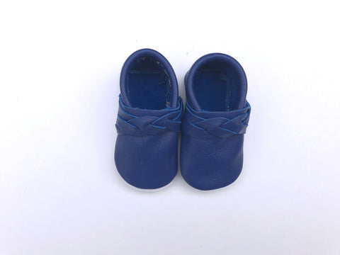 Braided Moccasin in Cobalt